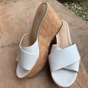 Leather Vince Camuto cork wedges
